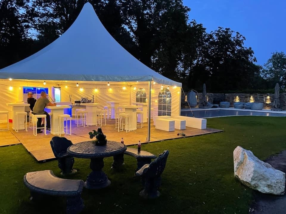 pagodetent/feesttent 6 kant 72m2